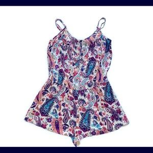 American Eagle Outfitters Paisley Romper Sz M